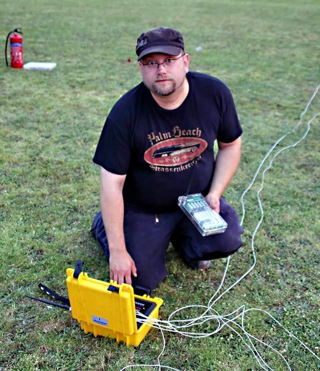 Pyrotechniker bei der Arbeit